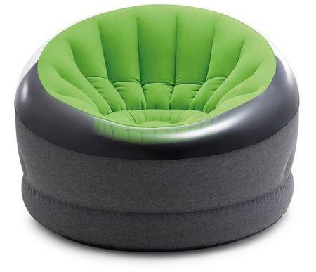 Intex napihljiv stol Empire, zelen