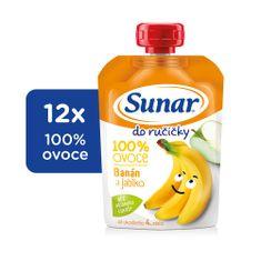 Sunar kapsička Do ručičky jablko, banán 12x100g