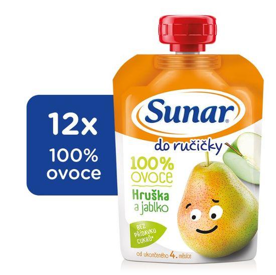 Sunar kapsička Do ručičky jablko, hruška 12x100g