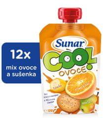 Sunar Cool ovoce Pomeranč, banán, sušenka 12x120g