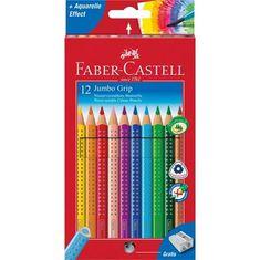 "Faber-Castell Barevné pastelky ""Jumbo Grip"", 12 barev + ořezávátko, trojhranné"
