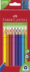 """Faber-Castell Barevné pastelky """"Jumbo"""" + ořezávátko, 20 barev, šestihranné"""