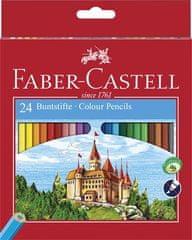 "Faber-Castell Barevné pastelky ""Classic"", 24 barev, šestihranné"