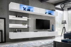 Importworld Obývací stěna Zdenko I3, bílá matná/bílý lesk