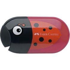 Faber-Castell Ořezávátko a guma, beruška, dvě díry, se zásobníkem