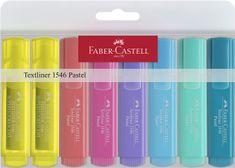 """Faber-Castell Zvýrazňovače """"1546 Pastel"""", 8 barev, 1-5 mm"""