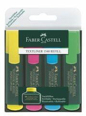 """Faber-Castell Zvýrazňovač """"Textliner 48"""", sada 4 barvy, 1-5 mm"""
