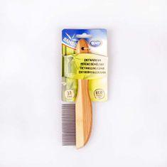 Duvo+ Hrebeň vyčesávač z bambusu - 21 zubov 21cm