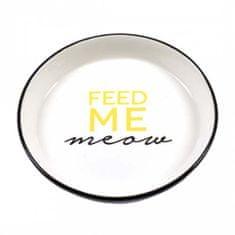 Duvo+ Keramická miska pre mačky - Feed me meow 13,8cm