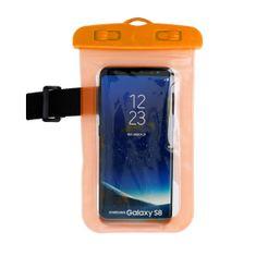 OEM Voděodolné pouzdro na telefon nebo doklady - oranžové