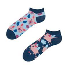 Good mood GMLS093 veselé ponožky kotníčkové - létající prasátka Barva: modrá, Velikost oblečení: 35-38