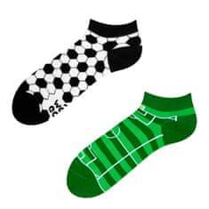 Good mood GMLS011 veselé ponožky kotníčkové - fotbal Barva: zelená, Velikost oblečení: 35-38