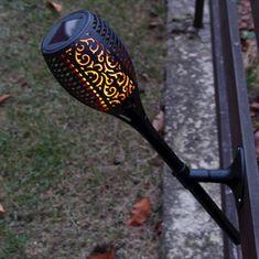 Marex Trade Zahradní solární lampa 3v1 s čidlem 46 LED, 78 cm