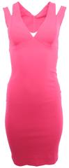 City Goddess Růžové šaty s průstřihy City Goddess Růžová XL