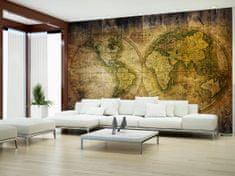 Murando DeLuxe Tapeta Historická mapa světa Rozměry (š x v) a Typ: 250x175 cm - vliesové