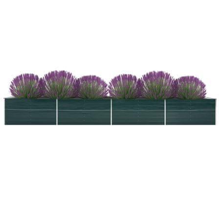 shumee zöld horganyzott acél kerti magaságyás 600 x 80 x 45 cm