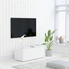 Vidaxl TV stolek bílý 80 x 34 x 30 cm dřevotříska