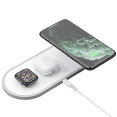 DUDAO A11 vezeték nélküli töltő 3in1 AirPods / Apple Watch 38mm / smartphone, fehér