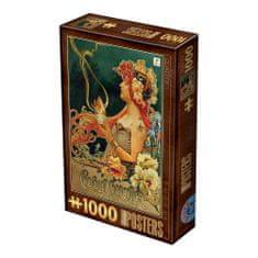 D-Toys Puzzle 1000 dílků Vintage Posters - Chocolat Carpentier
