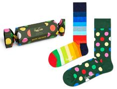 Happy Socks dvojité balení unisex ponožek 2-Pack Classic Holiday Socks Gift Set XBDO02-7300