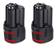 BOSCH Professional baterija GBA 12 V 3,0 Ah, 2 kosa (1600A00X7D)