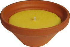 Roura sveča citronela, v naravni keramiki, 15 cm