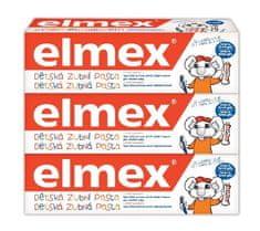 Elmex Zubná pasta kids 50 ml tripack