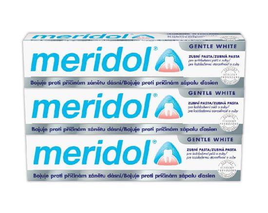 Meridol Zubní pasta whitening 75 ml tripack