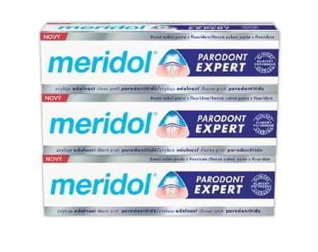 Meridol Paradont Expert fogkrém, 75 ml, tripack