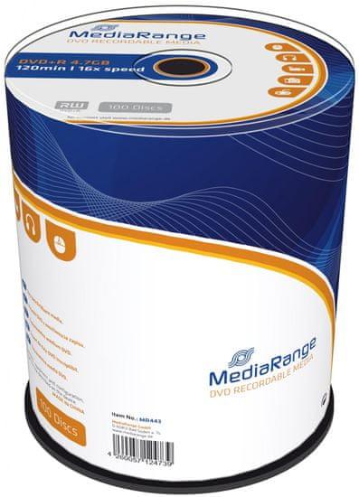 MediaRange DVD+R 4,7GB 16x spindl 100ks (MR443)