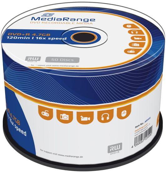 MediaRange DVD+R 4,7GB 16x spindl 50ks (MR445)