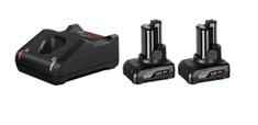 BOSCH Professional komplet 2x baterija GBA 12 V, 6,0 Ah + punjač GAL 12V-40 (1600A01B20)