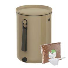 Skaza Bokashi Organko 2 komposter 9,6l + posip 1kg, smeđe bež