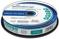 MediaRange DVD+R 8,5GB 8x Dual Layer spindl 10ks Inkjet Printable (MR468)