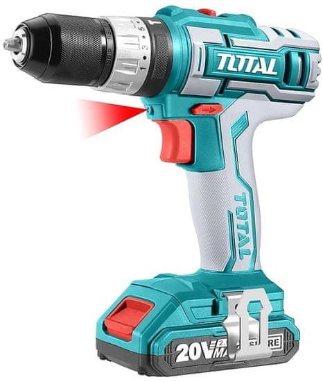 Total One-Stop Tools Vrtací šroubovák aku s příklepem, 2x2000mAh, 20V Li-Ion, industrial