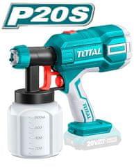 Total One-Stop Tools Pistole stříkací na barvu, 20V Li-ion, 2000mAh - bez baterie a nabíječky