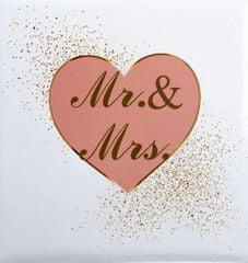 FANDY Fotoalbum samolepicí 27x32,5 cm 60 stran svatební Cheers 1 růžové