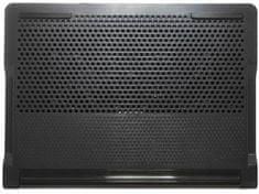 Targus Chill Mat hűtőállvány 17″-os notebookhoz, 4×USB csatlakozóval, 2 AWE81EU ventilátorral, szürke/fekete