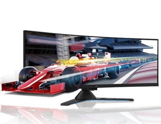 gaming monitor Lenovo Legion Y44w-10 (65F2RAC1EU) ívelés megtekintési szög színes mozgatás