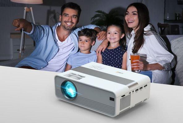 Technaxx Mini-LED HD Beamer projektor (4869) HD felbontás, reális kép, hosszú élettartam 3w Hangszórók