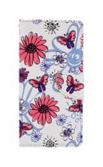 TopQ Kryt Xiaomi Redmi Note 9 Pro knížkový Flowers 50663