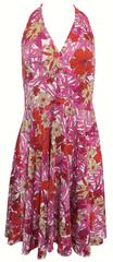 Sandro Ferrone Červenoružové šaty s kvetmi Sandro Ferrone Červená S