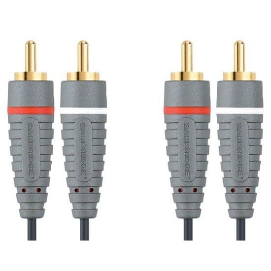 Bandridge 2x CINCH konektor - 2x CINCH konektor, 3m