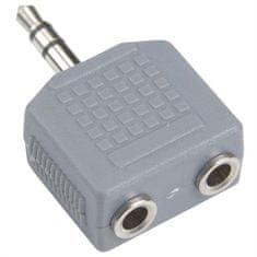 Bandridge Adaptér, 3.5mm JACK konektor stereo - 2x 3.5mm JACK zdířka stereo
