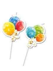 Procos Slamky plastové Sparkling Balloons 24cm 6ks