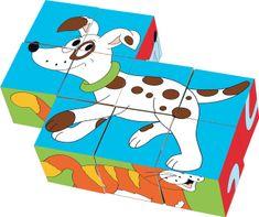 Woody Kocka 3 x 3 Životinje u bojama