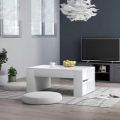 shumee Konferenční stolek bílý 100 x 60 x 42 cm dřevotříska