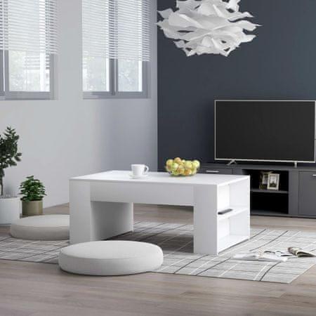slomart Klubska mizica bela 100x60x42 cm iverna plošča
