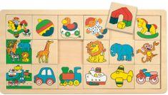 Woody Prilož kam čo patrí malé (3x6) Žirafa Suzie