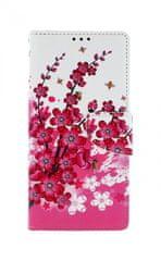 TopQ Kryt Xiaomi Redmi Note 9 knížkový Kytičky textil 50599